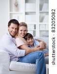 embracing the family with a...   Shutterstock . vector #83205082