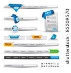 set of modern original style... | Shutterstock .eps vector #83209570