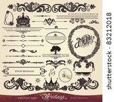 eps 10 vector calligraphy set ... | Shutterstock .eps vector #83212018