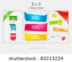 ribbon and banner collection.... | Shutterstock .eps vector #83213224