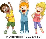 illustration of kids exercising | Shutterstock .eps vector #83217658