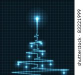 abstract christmas tree from... | Shutterstock . vector #83221999