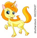 Cute Unicorn Walking