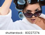 woman wearing sunglasses and... | Shutterstock . vector #83227276