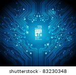 circuit board vector background | Shutterstock .eps vector #83230348