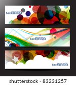 set of colorful background for... | Shutterstock .eps vector #83231257