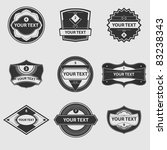 vector set of vintage labels | Shutterstock .eps vector #83238343