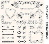 calligraphic design elements... | Shutterstock .eps vector #83241343