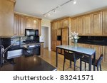 kitchen in condominium with oak ... | Shutterstock . vector #83241571