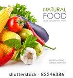 fresh vegetable with leaves... | Shutterstock . vector #83246386