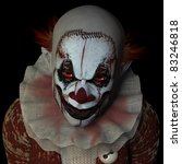 scary clown glaring at you.... | Shutterstock . vector #83246818
