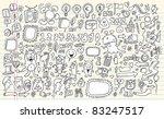 notebook doodle speech bubble... | Shutterstock .eps vector #83247517