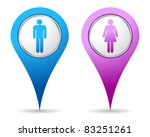 blue and pink location woman...   Shutterstock .eps vector #83251261