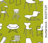 retro chairs seamless pattern... | Shutterstock .eps vector #83257129