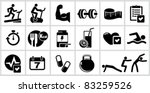 vector bodybuilding icons set....