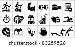vector bodybuilding icons set.... | Shutterstock .eps vector #83259526