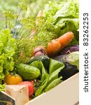 Different fresh vegetables. Selective focus - stock photo