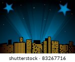 view of city at night with... | Shutterstock .eps vector #83267716