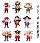 cartoon pirate icon set | Shutterstock .eps vector #83270476