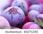 Macro View Of Frozen Berries ...