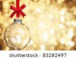 Closeup Of Glass Christmas Bal...