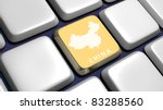 keyboard  detail  with china... | Shutterstock . vector #83288560