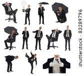 business man pack on white...   Shutterstock . vector #83289796