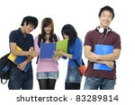 portrait of four students with... | Shutterstock . vector #83289814
