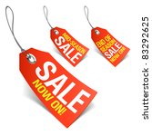 sale now on and season sale... | Shutterstock .eps vector #83292625