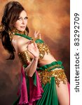 beautiful exotic belly dancer... | Shutterstock . vector #83292709