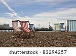 Empty Deck Chairs On Brighton...
