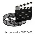 3d movie clapper board on white ... | Shutterstock . vector #83298685