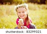 Portrait Of A Little Girl In...