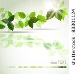 background with fresh green... | Shutterstock .eps vector #83301124