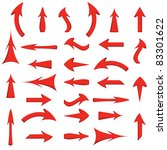 vector set of red arrows | Shutterstock .eps vector #83301622