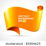 abstract scroll paper vector...