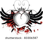 heraldic heart black in vector... | Shutterstock .eps vector #83306587
