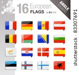 angle stickers   european flags   Shutterstock .eps vector #83307691