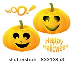 cute orange pumpkin isolated on ... | Shutterstock .eps vector #83313853