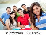 female student at the... | Shutterstock . vector #83317069