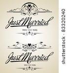 vintage vector calligraphic set | Shutterstock .eps vector #83320240