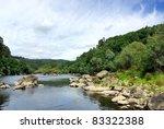 landscape of minho river  north ...