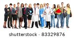 group of smiling business... | Shutterstock . vector #83329876