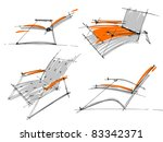 sketches of furniture | Shutterstock .eps vector #83342371
