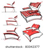 sketches of furniture | Shutterstock .eps vector #83342377