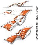 sketches of furniture | Shutterstock .eps vector #83342404