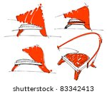 sketches of furniture | Shutterstock .eps vector #83342413