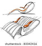 sketches of furniture | Shutterstock .eps vector #83342416