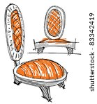 sketches of furniture | Shutterstock .eps vector #83342419