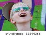 portrait of a boy on a... | Shutterstock . vector #83344366